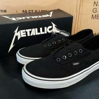 Vans Era Laceless Metallica Black White ICC Size 40-44