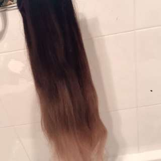 ZALA 24 INCH HUMAN HAIR EXTENSIONS OMBRÉ BROWN TO BLONDE