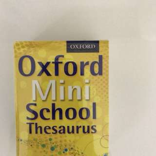 Oxford Mini School Thesaraus