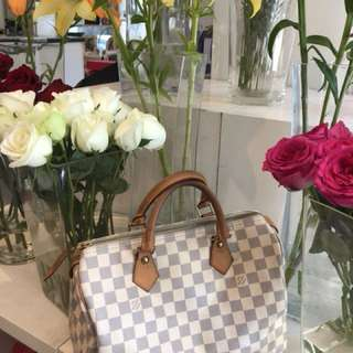 LV Speedy 30 Damier Azur $590  Made in France Date Code: SP1006