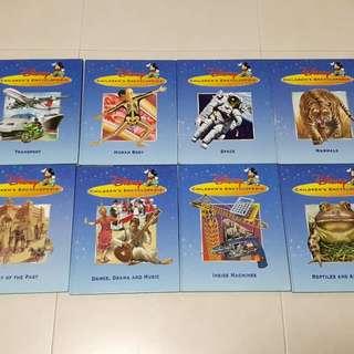 8 children encychopedia books