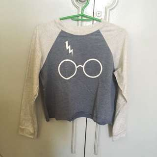 Harry potter cropped sweater