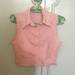 Cropped cowgirl shirt