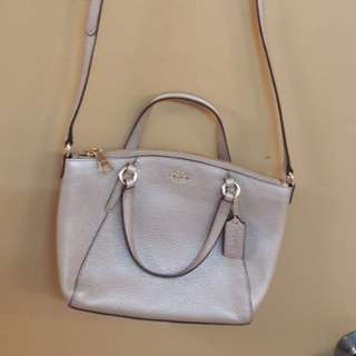 Original Coach Mini Kelsey Platinum