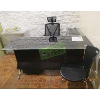KHOMI--GLASS TOP EXECUTIVE TABLES--KHOMI