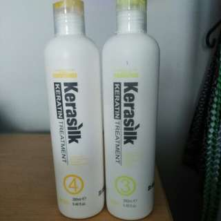 Keratin treatment shampoo/conditioner
