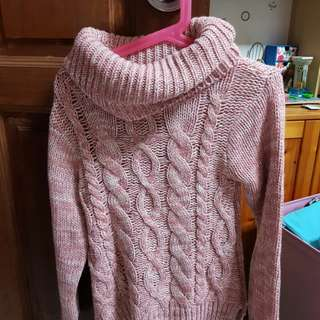 NEW Girl's Pink Knitted Sweater