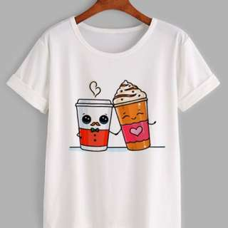 T-shirt coffee couple