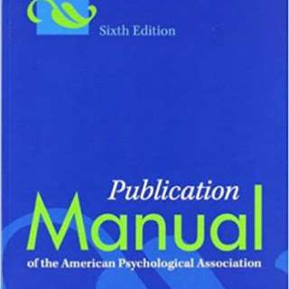 Looking for: American psychology manual
