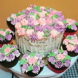 Floral Buttercream Cake 6""