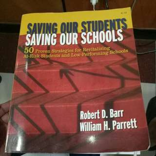 Saving our Students,Saving our School