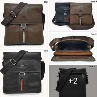 ARMANI LEATHER SLING BAG