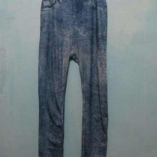 Legging jeans print