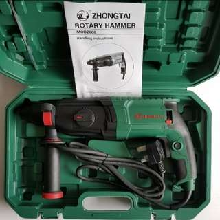 New Zhongtai 800Watts Rotary Hammer Drill Professional [ Pic 2 is the buyer review after using the drill ]