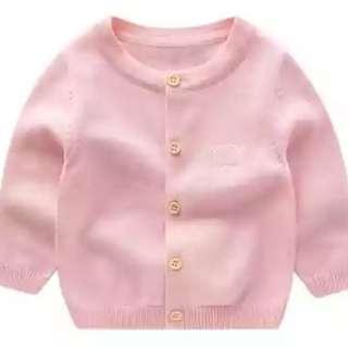 BN Baby Cotton Cardigan - Pink/Cream