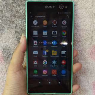 Preloved Xperia C3 Duo Mint Green