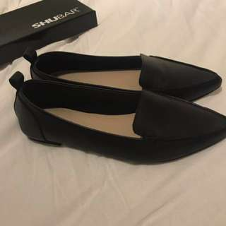 Shubar Teesha Leather Black Flats