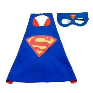 Kids Superhero Satin Cape + Mask