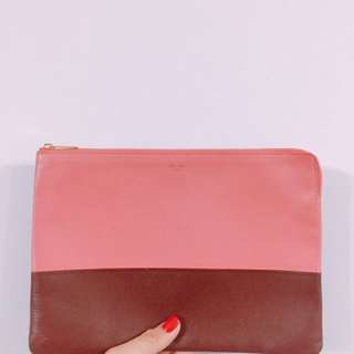 Celine two tone clutch