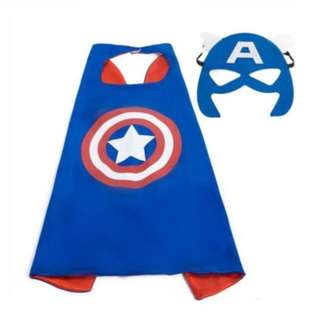 Kids Superhero Satin Cape and Mask