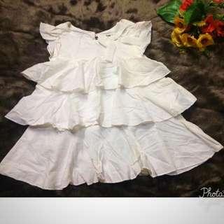 White ruffles dress
