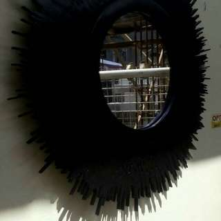 Crafted Wall Mirror - black