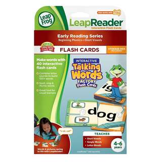 BRAND NEW SALE!! LeapFrog LeapReader Interactive Talking Words Factory Flash Cards (works with Tag)