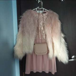 Chanel Look - Pink/White Fur Coat