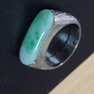 18k金玉戒指