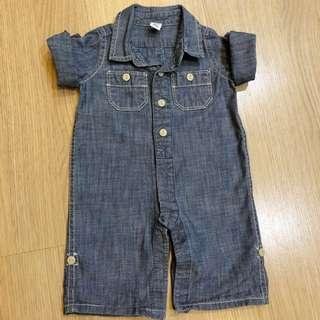 Authentic Baby Gap Boys One-piece Romper Denim