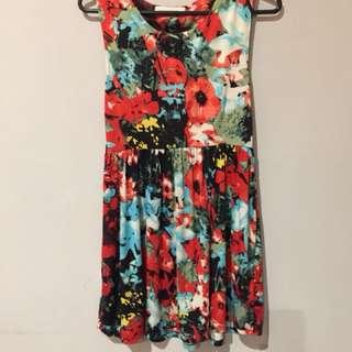 Zara dress bunga