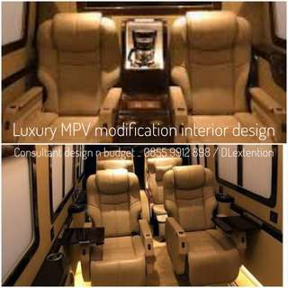 Luxury MPV interior design • Price Adhoc Customized