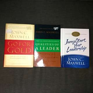3 bn  bks by John Maxwell Go For Gold / Jumpstart Your Leadership 21 indispensable of Leaderqualities