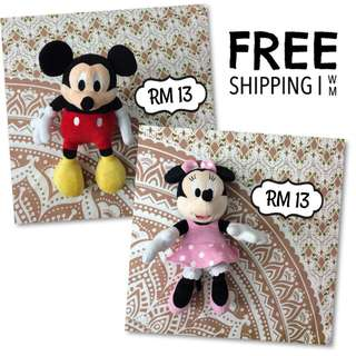 FREE SHIPPING [LIKE NEW] Disney Minnie Mickey Soft Toys | Anak Patung | Doll | Dolls | ToysRUs | Barbie | Iron Man | Marvel Movie Anime