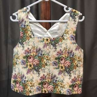 Floral Crop Top/ vest