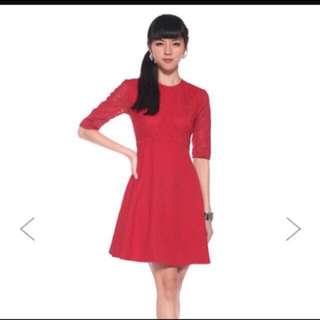 Love Bonito Red Lace Dress