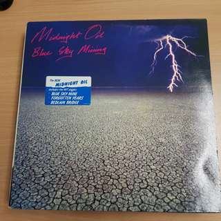 Midnight Oil Blue Sky Mining Vinyl LP Original Pressing Rare