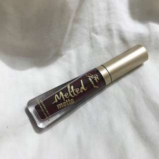 Deluxe size Too Faced Melted Matte Liquified Long Wear Lipstick in Drop Dead Red