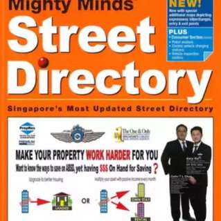 Singapore Street Directory 2918 (seal conditions)
