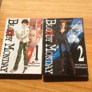 Bloody Monday 1 and 2 Manga (with FREE book!)