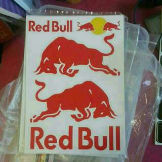 Red bull | sticker set for helmet