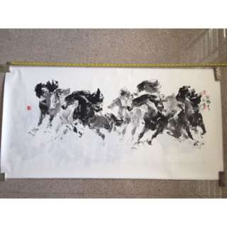 Chinese Painting- Artist 唐煌 . 作品 (奔马)