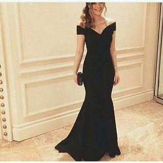 Dress elegant black import