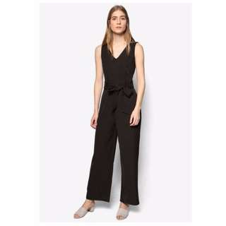 (BN) ZALORA Collection Belted Jumpsuit (Size S)