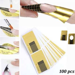 Nail art extension sticker guide 100 pcs