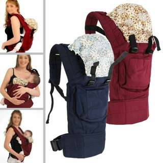 Warm Cotton Front & Back Baby Carrier Comfort Backpack Sling Wrap 3 Position New Born Baby Carrier With Hood
