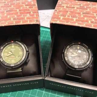 Seiko FSC SBDJ023(Olive) & SBDJ025(Black)