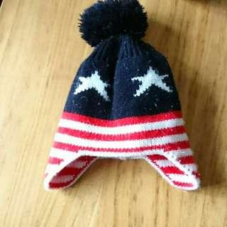 🚚 1-2歲 兒童 星星國棋毛線帽(頭圍42cm)