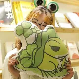 Tabikaeru Journey Frog Soft Pillow