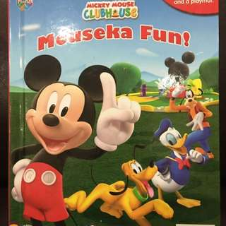 Mickey Mouse book and figurings